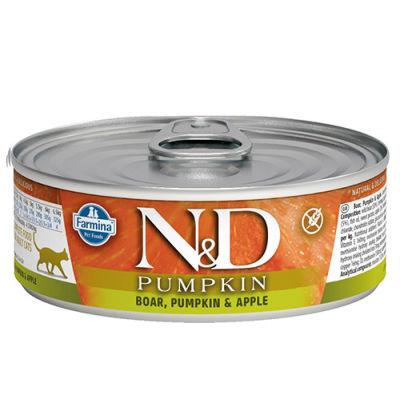 ND 2079 Pumpkin Balkabaklı ve Yaban Domuzlu Kedi Konservesi 80 Gr