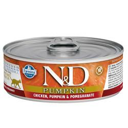 N&D (Naturel&Delicious) - ND 2086 Pumpkin Balkabaklı Tavuk Etli ve Narlı Kedi Konservesi 80 Gr