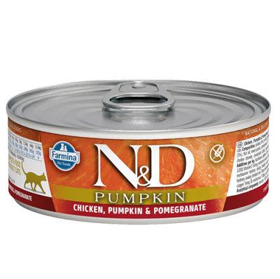 ND 2086 Pumpkin Balkabaklı Tavuk Etli ve Narlı Kedi Konservesi 80 Gr