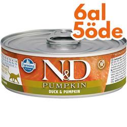N&D (Naturel&Delicious) - ND 2093 Pumpkin Balkabaklı ve Ördek Etli Kedi Konservesi 80 Gr - 6 Al 5 Öde