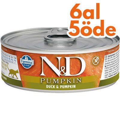 ND 2093 Pumpkin Balkabaklı ve Ördek Etli Kedi Konservesi 80 Gr - 6 Al 5 Öde