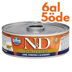 N&D (Naturel&Delicious) - ND 2109 Pumpkin Balkabak ve Kuzu Etli Kedi Konservesi 80 Gr - 6 Al 5 Öde