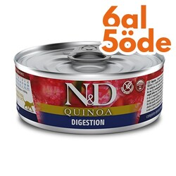 N&D (Naturel&Delicious) - ND 2130 Quinoa Digestion Hassas Sindirim için Kinoa, Kuzu ve Enginarlı Kedi Konservesi 80 Gr - 6 Al 5 Öde