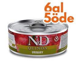 N&D (Naturel&Delicious) - ND 2178 Quinoa Urinary İdrar Yolları Sağlığı için Kinoa ve Ördekli Kedi Konservesi 80 Gr - 6 Al 5 Öde