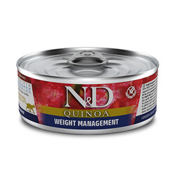 N&D (Naturel&Delicious) - ND 2192 Quinoa Weight Management Kilo Kontrolü için Kinoa ve Kuzulu Kedi Konservesi 80 Gr