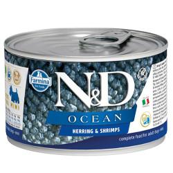 N&D (Naturel&Delicious) - ND 2215 Mini Ocean Ringa Balıklı ve Karidesli Köpek Konservesi 140 Gr