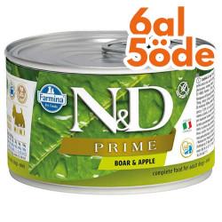N&D (Naturel&Delicious) - ND 2253 Mini Prime Yaban Domuzu ve Elmalı Köpek Konservesi 140 Gr - 6 Al 5 Öde