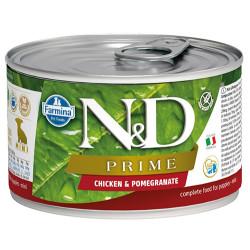 N&D (Naturel&Delicious) - ND 2277 Mini Prime Tavuk ve Nar Köpek Konserve Maması 140 Gr
