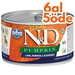 N&D (Naturel&Delicious) - ND 2307 Puppy Mini Pumpkin Balkabak Kuzu Yaban Mersini Yavru Köpek Konservesi 140 Gr - 6 Al 5 Öde