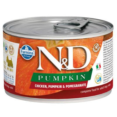 ND 2314 Mini Pumpkin Balkabaklı Tavuk Etli ve Nar Köpek Konservesi 140 Gr