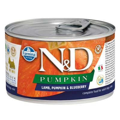 ND 2338 Mini Pumpkin Balkabaklı Kuzu Etli ve Yaban Mersini Köpek Konservesi 140 Gr - 6 Al 5 Öde