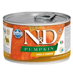 N&D (Naturel&Delicious) - ND 2345 Mini Balkabaklı ve Bıldırcın Etli Köpek Konservesi 140 Gr