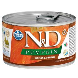 N&D (Naturel&Delicious) - ND 2352 Mini Balkabaklı ve Geyik Etli Köpek Konservesi 140 Gr