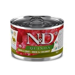 N&D (Naturel&Delicious) - ND 2376 Quinoa Mini Skin&Coat Deri Tüy Sağlığı Kinoa, Ördek, H. Cevizli Köpek Konservesi 140 Gr