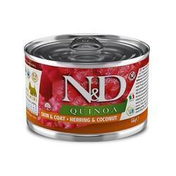 N&D (Naturel&Delicious) - ND 2383 Quinoa Mini Skin&Coat Deri Tüy Sağlığı Kinoa, R.Balığı, H. Cevizli Köpek Konservesi 140 Gr