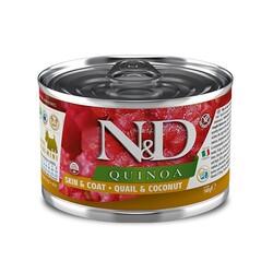 N&D (Naturel&Delicious) - ND 2390 Quinoa Mini Skin&Coat Deri Tüy Sağlığı Kinoa, Bıldırcın, H. Cevizli Köpek Konservesi 140 Gr