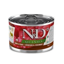 N&D (Naturel&Delicious) - ND 2406 Quinoa Mini Skin&Coat Deri Tüy Sağlığı Kinoa ve Geyikli Köpek Konservesi 140 Gr
