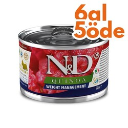 N&D (Naturel&Delicious) - ND 2413 Quinoa Mini Weight Management Light Kinoa Kuzu Köpek Konservesi 140 Gr - 6 Al 5 Öde