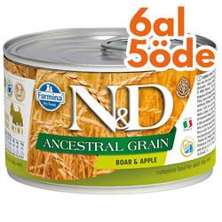 N&D (Naturel&Delicious) - ND 2420 Düşük Tahıl Yaban Domuzu ve Elmalı Köpek Konservesi 140 Gr - 6 Al 5 Öde