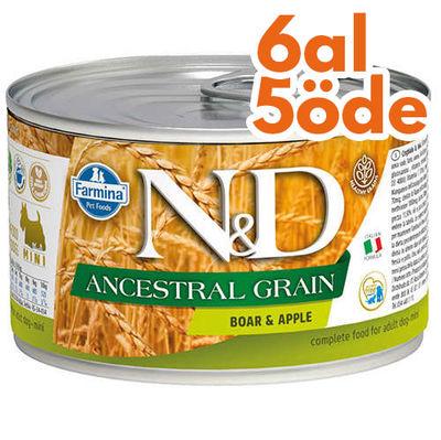 ND 2420 Mini Düşük Tahıl Yaban Domuzu ve Elmalı Köpek Konservesi 140 Gr - 6 Al 5 Öde