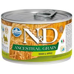 N&D (Naturel&Delicious) - ND 2420 Mini Düşük Tahıl Yaban Domuzu ve Elmalı Köpek Konservesi 140 Gr