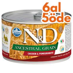 N&D (Naturel&Delicious) - ND 2437 Düşük Tahıl Tavuk Etli ve Narlı Köpek Konservesi 140 Gr - 6 Al 5 Öde