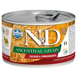 N&D (Naturel&Delicious) - ND 2437 Mini Düşük Tahıl Tavuk Etli ve Narlı Küçük Irk Köpek Konservesi 140 Gr