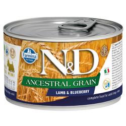 N&D (Naturel&Delicious) - ND 2444 Mini Düşük Tahıl Kuzu Etli ve Yaban Mersinli Küçük Irk Köpek Konservesi 140 Gr