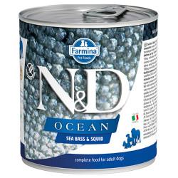 N&D (Naturel&Delicious) - ND 2482 Ocean Levrek ve Mürekkep Balıklı Köpek Konservesi 285 Gr