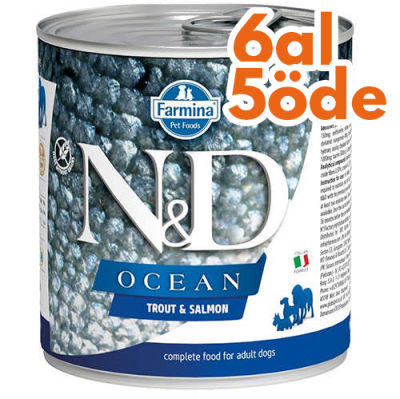 ND 2499 Ocean Somon ve Alabalıklı Köpek Konservesi 285 Gr - 6 Al 5 Öde
