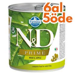 N&D (Naturel&Delicious) - ND 2505 Prime Yaban Domuzu ve Elmalı Köpek Konservesi 285 Gr - 6 Al 5 Öde