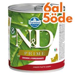 N&D (Naturel&Delicious) - ND 2512 Puppy Prime Tavuk ve Narlı Yavru Köpek Konservesi 285 Gr - 6 Al 5 Öde