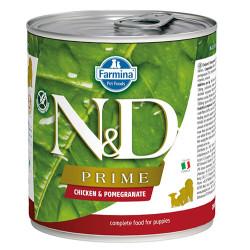 N&D (Naturel&Delicious) - ND 2512 Puppy Prime Tavuk ve Narlı Yavru Köpek Konservesi 285 Gr