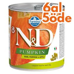 N&D (Naturel&Delicious) - ND 2543 Balkabaklı Yaban Domuzu ve Elma Köpek Konservesi 285 Gr - 6 Al 5 Öde