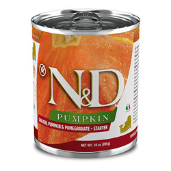 N&D (Naturel&Delicious) - ND 5742 Starter Balkabak,Tavuk,Nar Yavru Başlangıç Köpek Konservesi 285 Gr