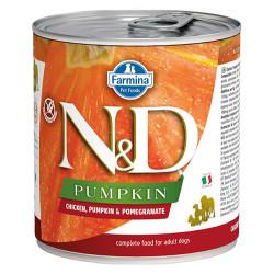 N&D (Naturel&Delicious) - ND 2567 Balkabaklı Tavuk Etli ve Narlı Köpek Konservesi 285 Gr