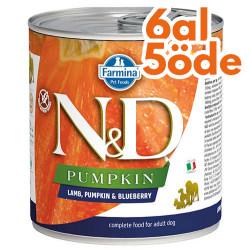 N&D (Naturel&Delicious) - ND 2581 Balkabaklı Kuzu Etli ve Yaban Mersini Köpek Konservesi 285 Gr - 6 Al 5 Öde