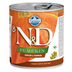 N&D (Naturel&Delicious) - ND 2604 Balkabaklı ve Geyik Etli Köpek Konservesi 285 Gr