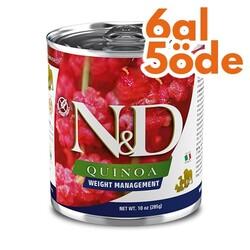 N&D (Naturel&Delicious) - ND 2611 Quinoa Digestion Hassas Sindirim Kinoa, Kuzu, Enginarlı Köpek Konservesi 285 Gr - 6 Al 5 Öde