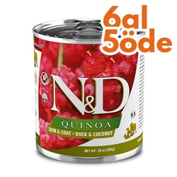 N&D (Naturel&Delicious) - ND 2628 Quinoa Skin&Coat Deri Tüy Sağlığı Kinoa, Ördek, H. Cevizli Köpek Konservesi 285 Gr - 6 Al 5 Öde