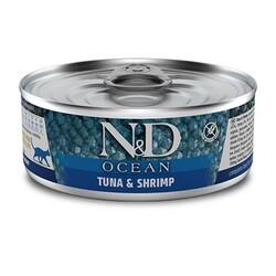 N&D (Naturel&Delicious) - ND 2888 Ocean Ton Balıklı ve Karidesli Kedi Konservesi 80 Gr