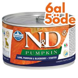 N&D (Naturel&Delicious) - ND 2932 Starter Pumpkin Balkabaklı Kuzu Yaban Mersini Yavru Köpek Konservesi 140 Gr - 6 Al 5 Öde