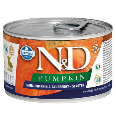 ND 2932 Starter Pumpkin Balkabaklı Kuzu ve Yaban Mersini Yavru Köpek Konservesi 140 Gr