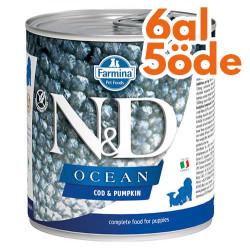 N&D (Naturel&Delicious) - ND 2949 Puppy Ocean Morina Balıklı ve Balkabaklı Yavru Köpek Konservesi 285 Gr - 6 Al 5 Öde