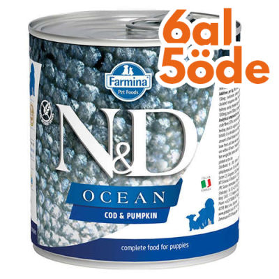 ND 2949 Puppy Ocean Morina Balıklı ve Balkabaklı Yavru Köpek Konservesi 285 Gr - 6 Al 5 Öde
