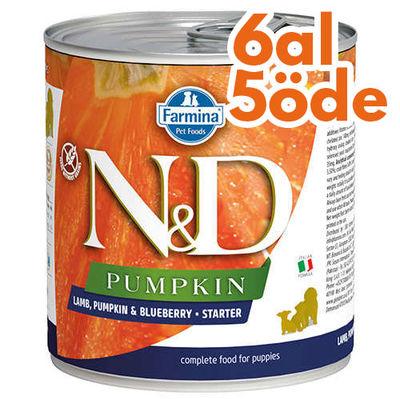 ND 5698 Starter Pumpkin Balkabaklı Kuzu Yaban Mersini Yavru Köpek Konservesi 285 Gr - 6 Al 5 Öde