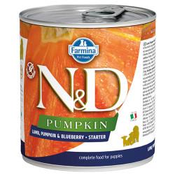N&D (Naturel&Delicious) - ND 2956 Starter Pumpkin Balkabaklı Kuzu Yaban Mersinli Yavru Köpek Konservesi 285 Gr