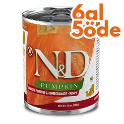 N&D (Naturel&Delicious) - ND 5704 Puppy Balkabak,Tavuk,Nar Yavru Köpek Konservesi 285 Gr - 6 Al 5 Öde