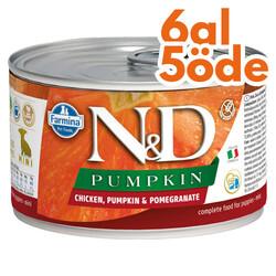 N&D (Naturel&Delicious) - ND 5711 Puppy Mini Balkabak, Tavuk, Nar Yavru Köpek Konservesi 140 Gr - 6 Al 5 Öde