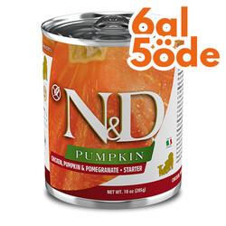 N&D (Naturel&Delicious) - ND 5742 Starter Balkabak, Tavuk, Nar Yavru Başlangıç Köpek Konservesi 285 Gr - 6 Al 5 Öde